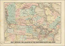 United States, Midwest, Plains, Rocky Mountains and Canada Map By M. Traubel
