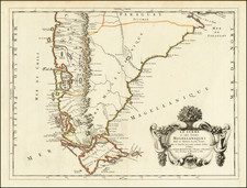 Argentina and Chile Map By Guillaume Sanson