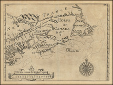 New England, Canada and Eastern Canada Map By William Alexander