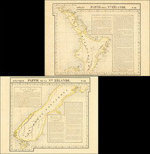 New Zealand Map By Philippe Marie Vandermaelen