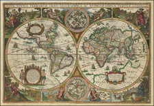World Map By Melchior Tavernier / Jodocus Hondius II