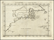 New England, Mid-Atlantic, Southeast and Canada Map By Girolamo Ruscelli