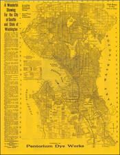 Washington Map By Modern Advertising & Printing Co.