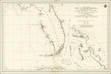 Florida and Bahamas Map By Direccion Hidrografica de Madrid