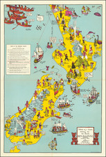 New Zealand and Pictorial Maps Map By Alan Stuart Paterson