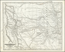 A Map of The Indian Territory, Northern Texas And New Mexico Showing the Great Western Prairies by Josiah Gregg   By Josiah Gregg