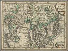 India, Southeast Asia, Philippines, Malaysia and Thailand, Cambodia, Vietnam Map By  Gerard Mercator