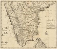 India and Sri Lanka Map By Francois Valentijn
