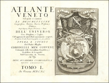 Title Pages Map By Vincenzo Maria Coronelli