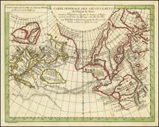 Polar Maps, Pacific Northwest, Alaska, Russia in Asia and British Columbia Map By Denis Diderot / Didier Robert de Vaugondy / Heidegger