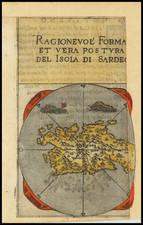 Sardinia Map By Francesco Ferretti