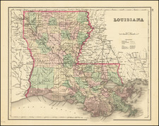 Louisiana Map By O.W. Gray
