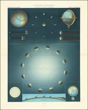 Celestial Maps Map By Louis Vivien de Saint-Martin