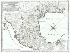 South, Texas, Southwest and Mexico Map By Pierre de Pages
