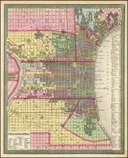Philadelphia Map By Thomas, Cowperthwait & Co.