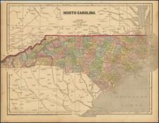 North Carolina Map By Charles Morse