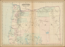 Oregon Map By Asher  &  Adams