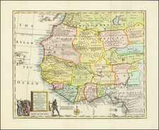 Africa and West Africa Map By Emanuel Bowen