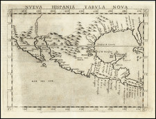 South, Southeast, Texas, Southwest and Mexico Map By Girolamo Ruscelli