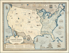 United States, Pictorial Maps and American Revolution Map By Karl Smith