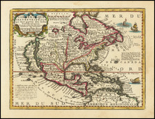 North America and California as an Island Map By Jacques Chiquet
