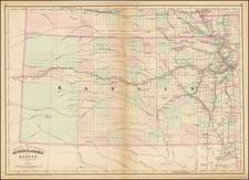 Kansas Map By Asher  &  Adams