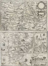 Africa, Africa, South Africa and East Africa Map By Theodor De Bry / Filippo Pigafetta