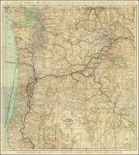 Idaho, Oregon and Washington Map By Poole Brothers
