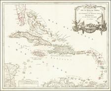Caribbean Map By Didier Robert de Vaugondy
