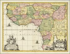 West Africa Map By Peter Schenk / Gerard Valk