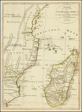 East Africa and African Islands, including Madagascar Map By Weimar Geographische Institut