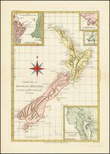 New Zealand Map By Rigobert Bonne