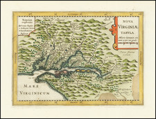 Mid-Atlantic, Maryland, Delaware, Southeast and Virginia Map By Johannes Cloppenburg