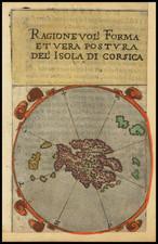Corsica and Greece Map By Francesco Ferretti