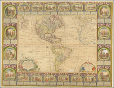 Western Hemisphere, North America, South America and America Map By Jean Baptiste Louis Clouet