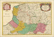 Nord et Nord-Est Map By Alexis-Hubert Jaillot