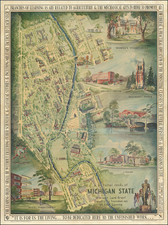 Michigan and Pictorial Maps Map By Carl D. Johnson