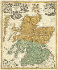 Scotland Map By Johann Baptist Homann