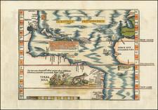 Oceani occidetalis Seu Terre Noue Tabula Christophorus Columbus natione Italus, patria Genuensis   By Lorenz Fries