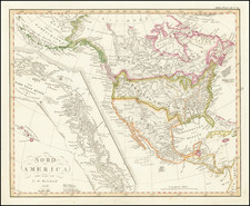 Alaska, Hawaii, North America and British Columbia Map By Christian Gottlieb Reichard