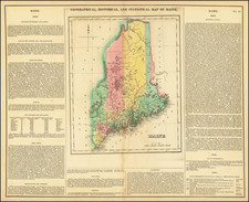 Maine Map By Henry Charles Carey  &  Isaac Lea