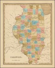 Illinois Map By Thomas Gamaliel Bradford