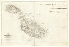 Malta Map By British Admiralty