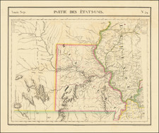 Illinois, Iowa, Kansas, Missouri and Nebraska Map By Philippe Marie Vandermaelen
