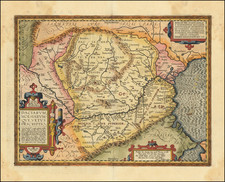 Europe, Central & Eastern Europe, Austria, Hungary, Romania and Bulgaria Map By Abraham Ortelius