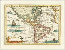 America Map By Johannes Cloppenburg