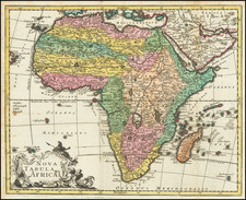 Africa Map By Georg Christoph Kilian