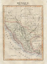 Texas, Plains, Southwest and California Map By Pierre Antoine Tardieu / Aristide Michel Perrot