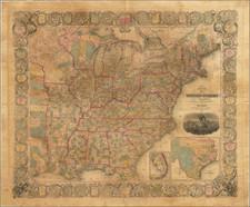 United States, Texas, Oregon and Washington Map By Edward Hooker Ensign  &  Timothy Ensign