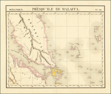 Singapore, Indonesia and Malaysia Map By Philippe Marie Vandermaelen